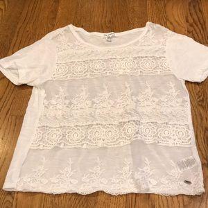 White Lace Aéropostale Shirt